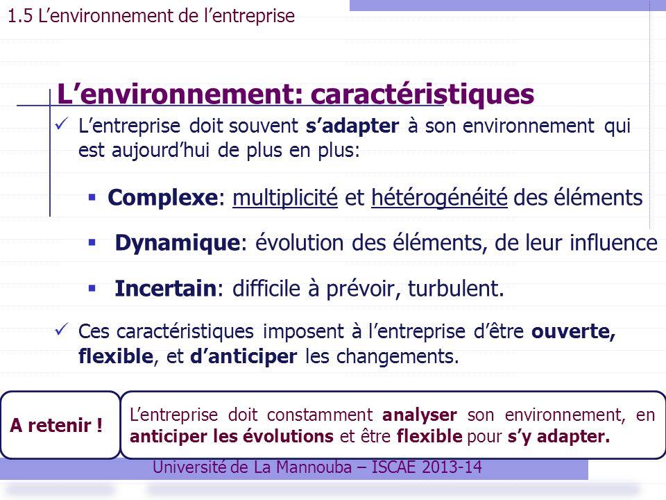 L'environnement: caractéristiques