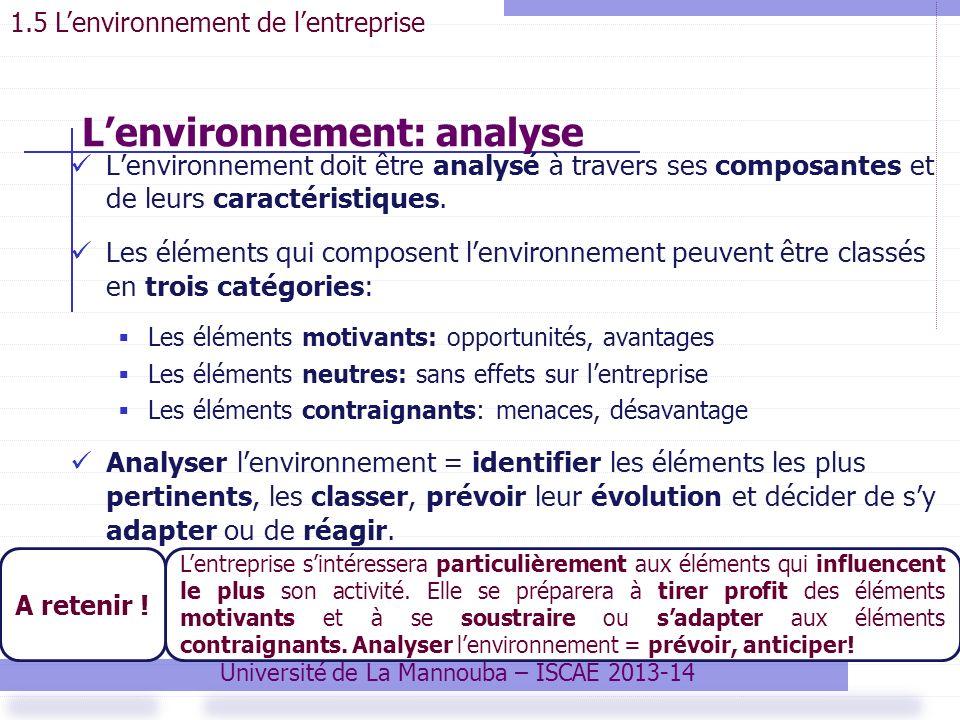 L'environnement: analyse