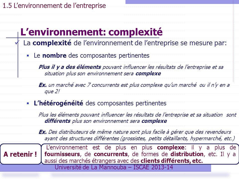 L'environnement: complexité