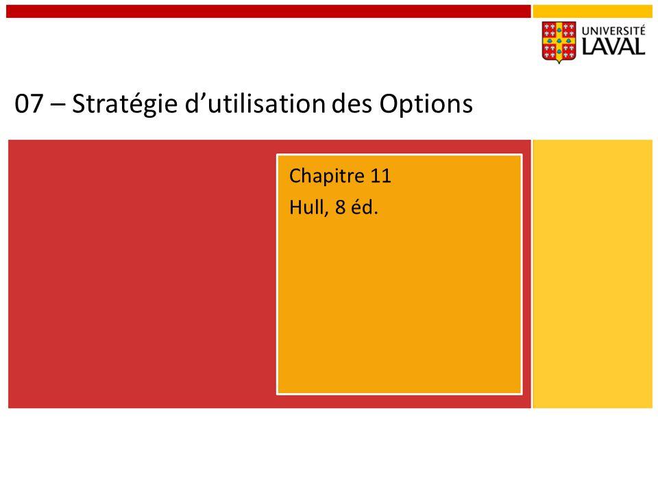 07 – Stratégie d'utilisation des Options