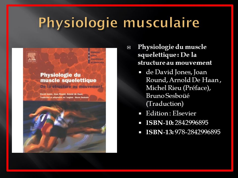 Physiologie musculaire