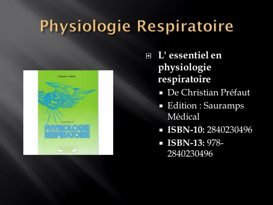 Physiologie Respiratoire