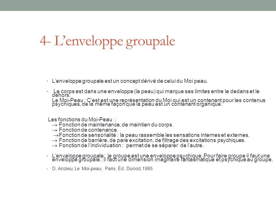 4- L'enveloppe groupale