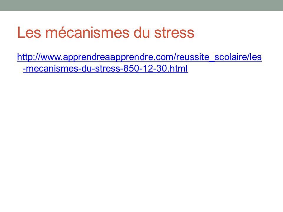 Les mécanismes du stress