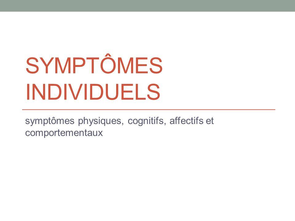 Symptômes individuels