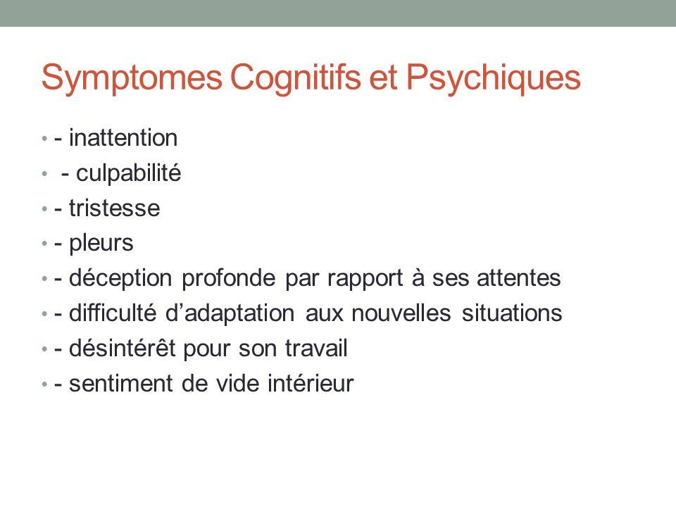 Symptomes Cognitifs et Psychiques