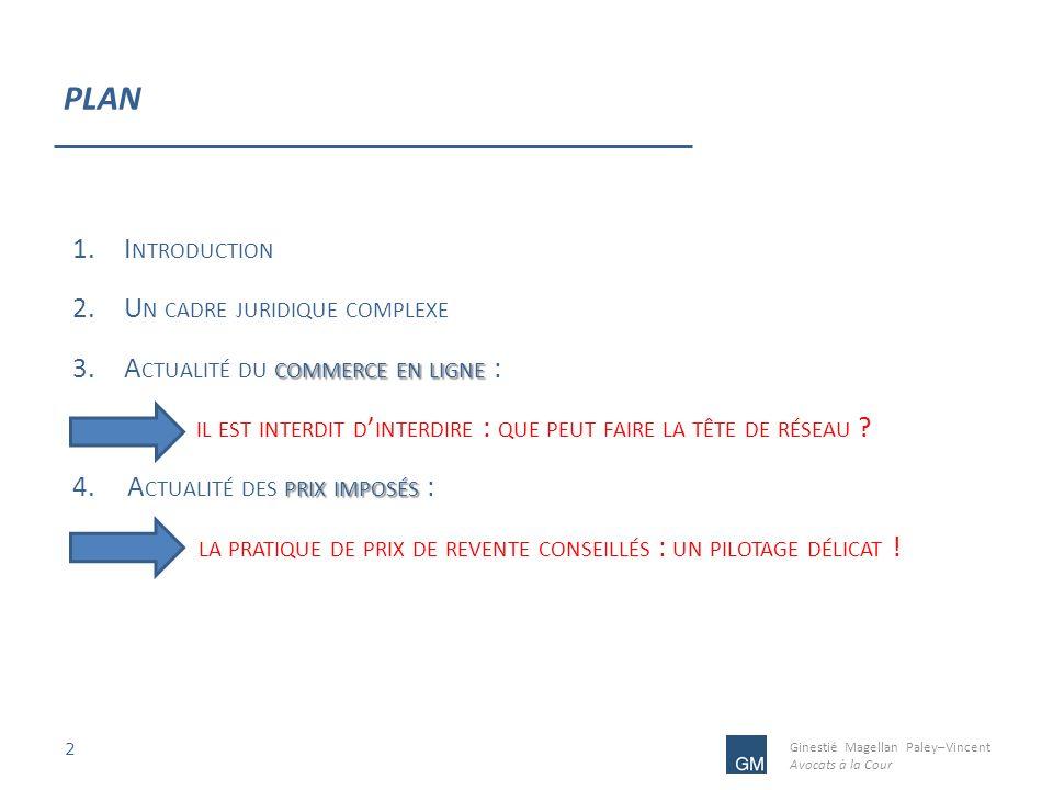 PLAN Introduction Un cadre juridique complexe