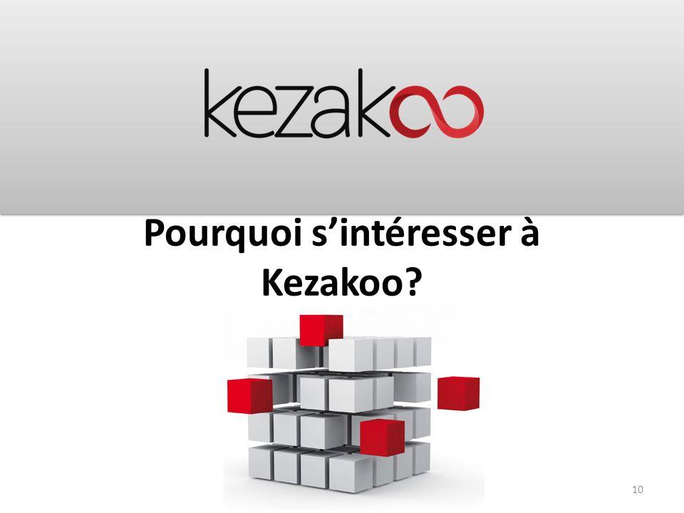 Pourquoi s'intéresser à Kezakoo