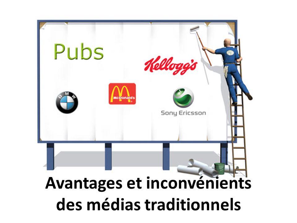 Avantages et inconvénients des médias traditionnels