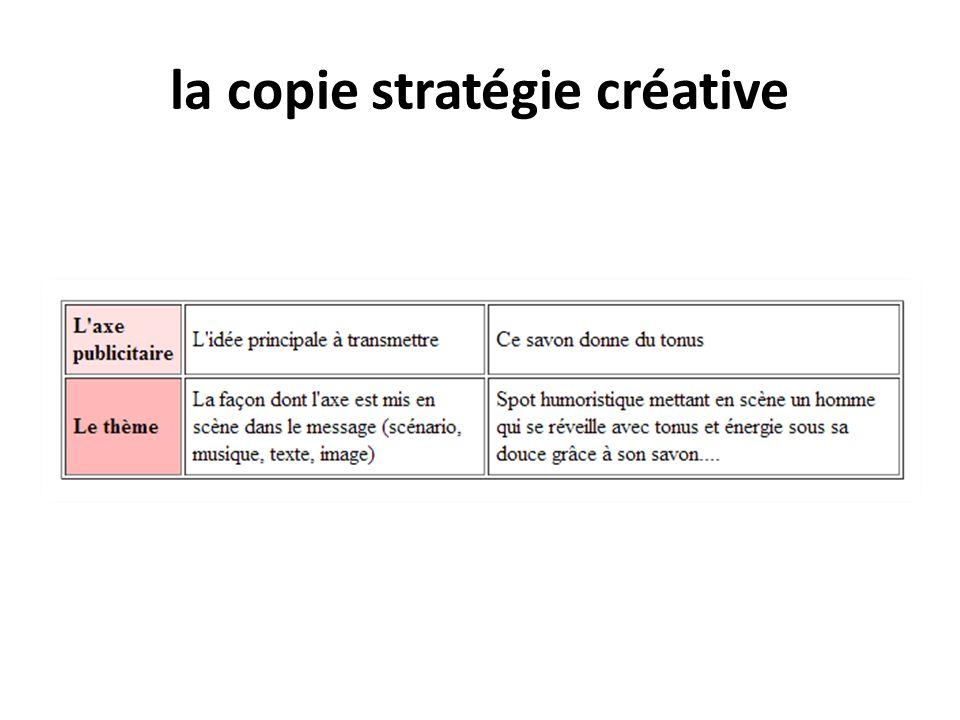 la copie stratégie créative
