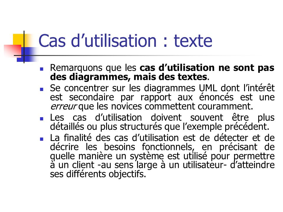 Cas d'utilisation : texte