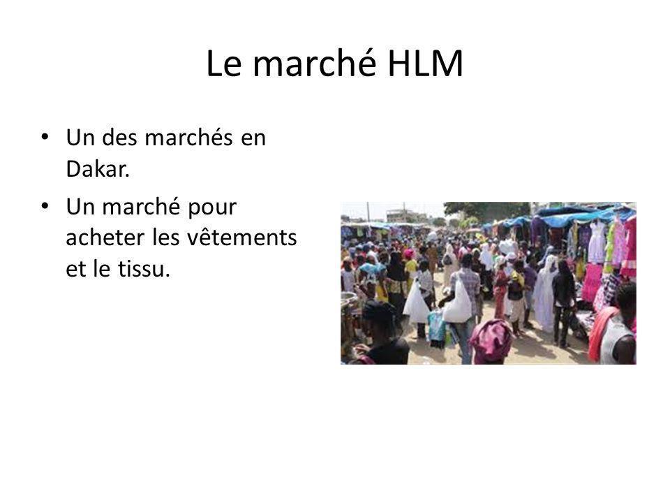 Le marché HLM Un des marchés en Dakar.