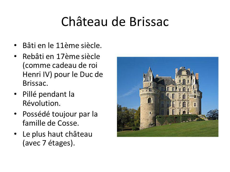 Château de Brissac Bâti en le 11ème siècle.
