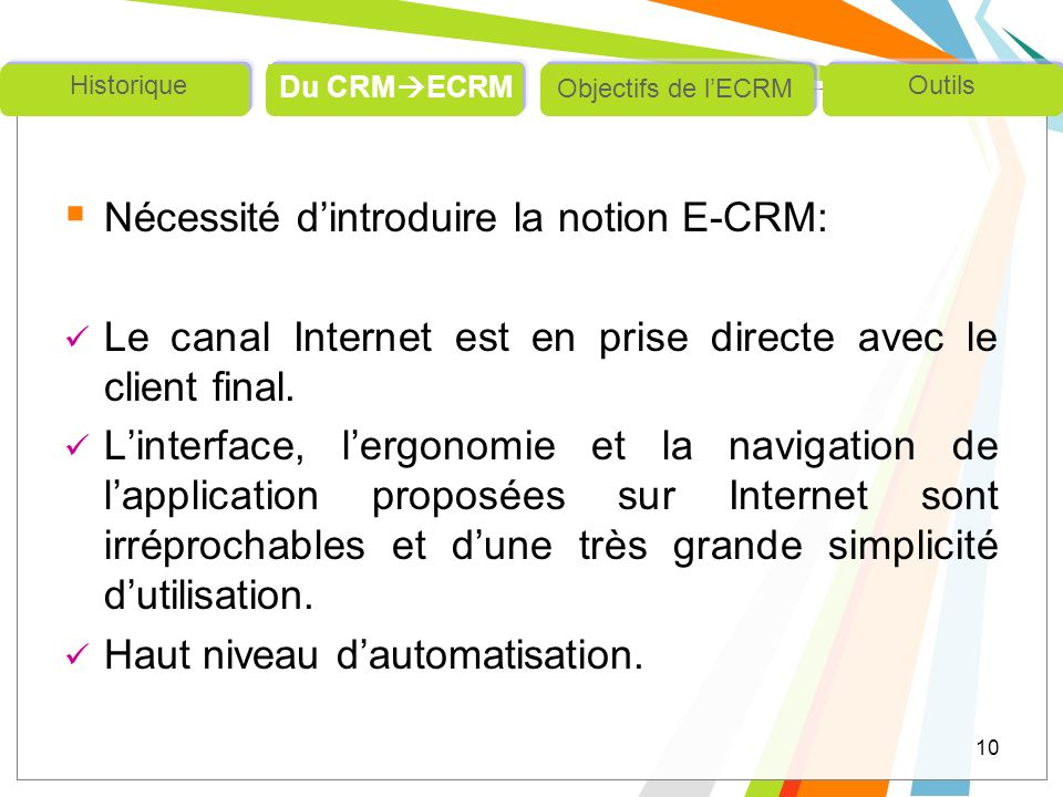 Nécessité d'introduire la notion E-CRM: