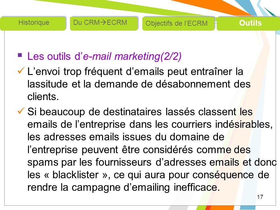 Les outils d'e-mail marketing(2/2)