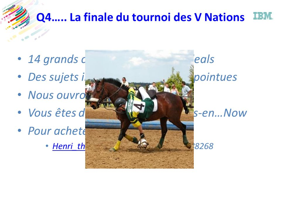 Q4….. La finale du tournoi des V Nations