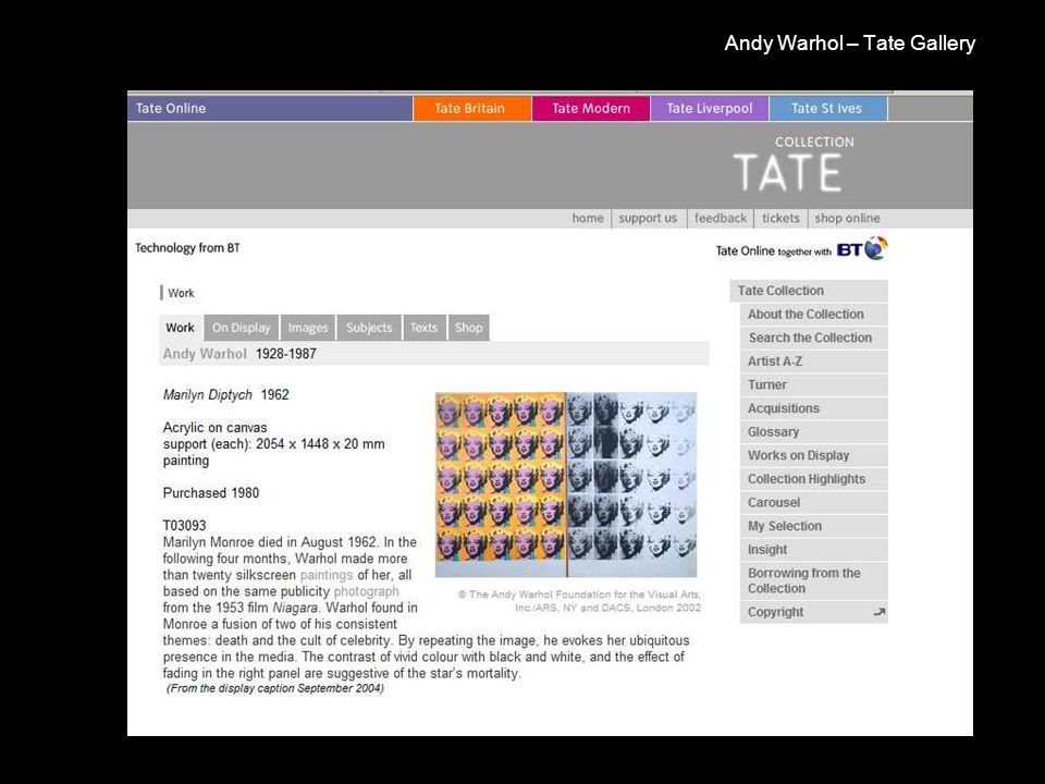 Andy Warhol – Tate Gallery