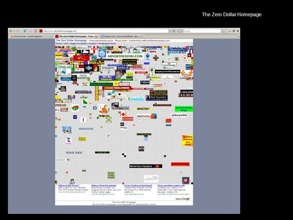 The Zero Dollar Homepage