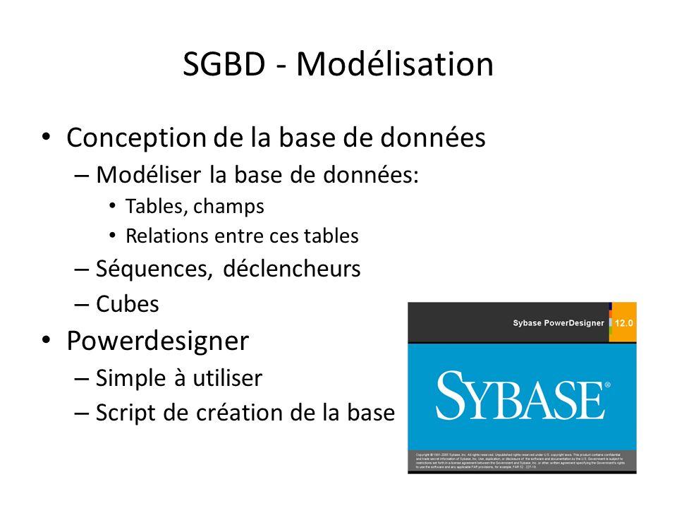 SGBD - Modélisation Conception de la base de données Powerdesigner