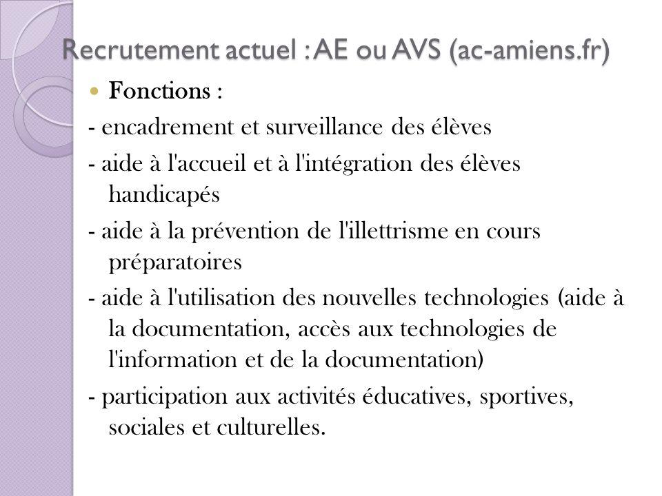 Recrutement actuel : AE ou AVS (ac-amiens.fr)