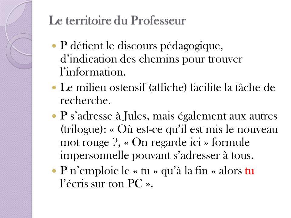 Le territoire du Professeur