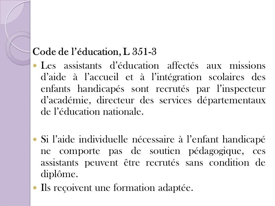 Code de l'éducation, L 351-3