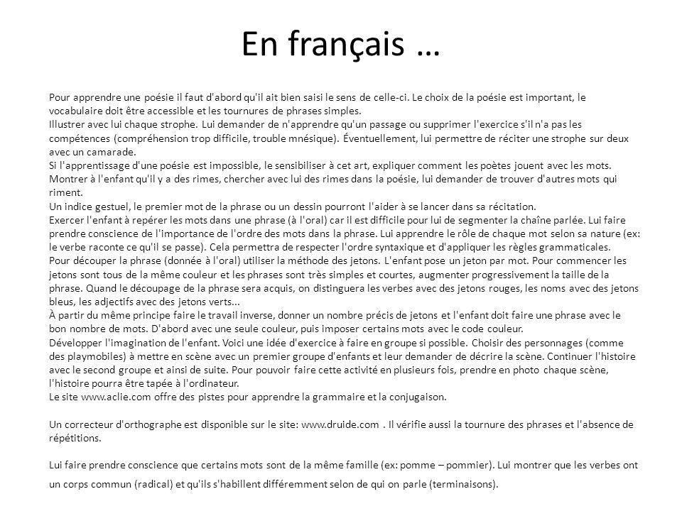 En français …