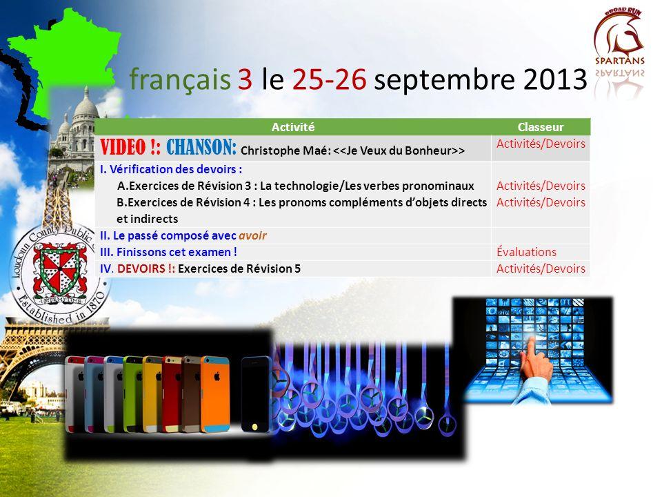 français 3 le 25-26 septembre 2013