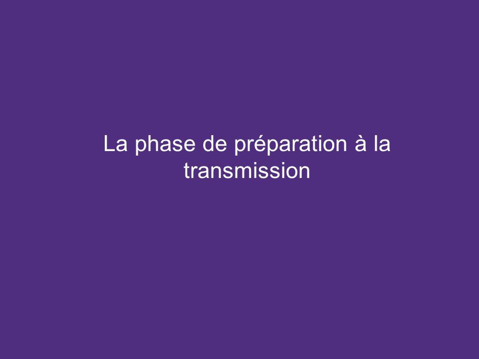 La phase de préparation à la transmission