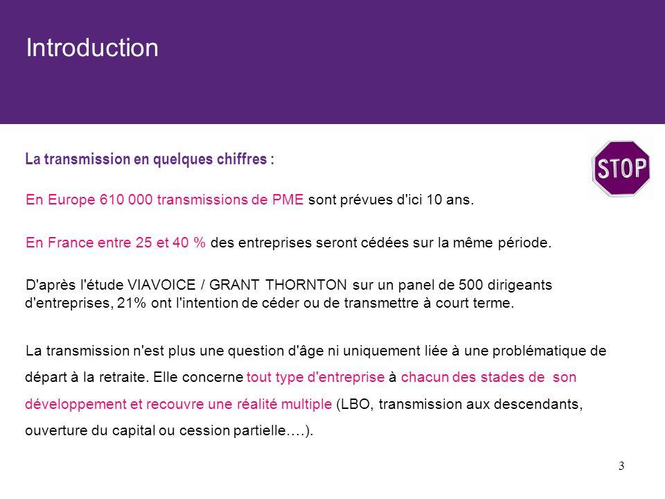 Introduction La transmission en quelques chiffres :