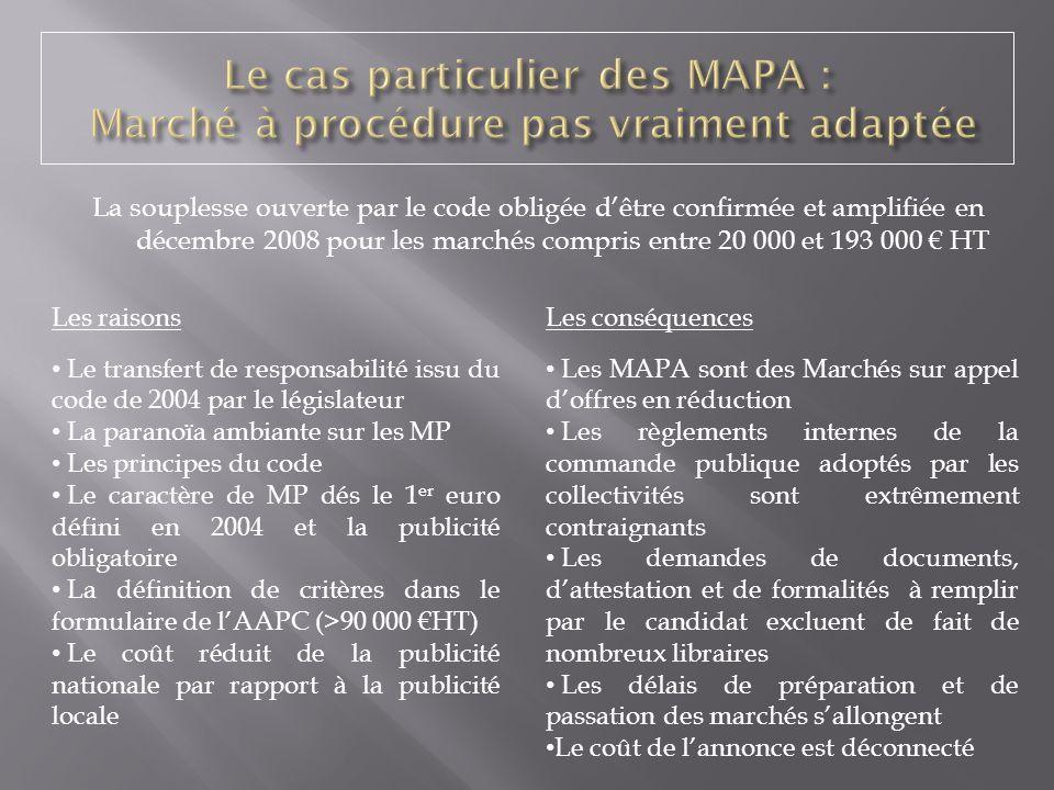 Le cas particulier des MAPA : Marché à procédure pas vraiment adaptée