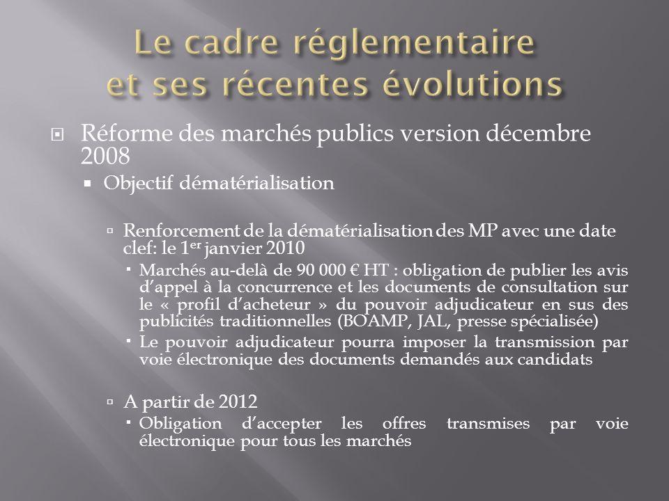 Le cadre réglementaire et ses récentes évolutions