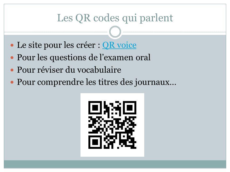 Les QR codes qui parlent