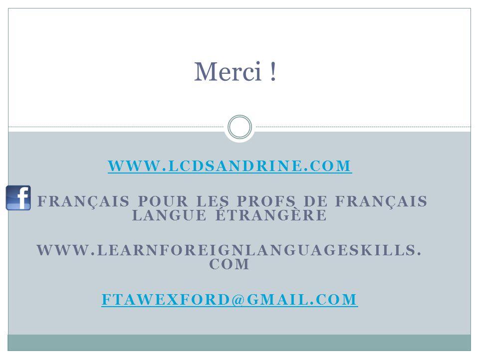Français pour les profs de français langue étrangère