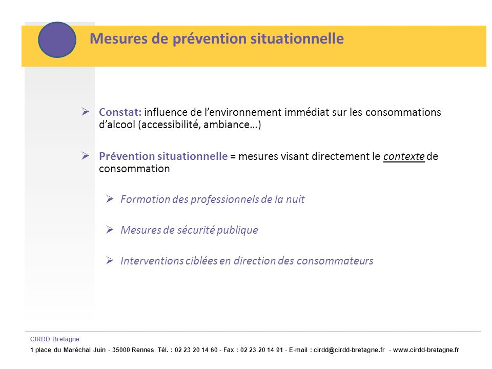 Mesures de prévention situationnelle