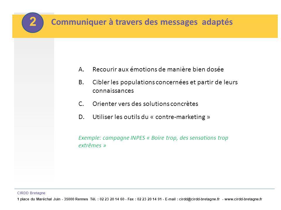 2 Communiquer à travers des messages adaptés