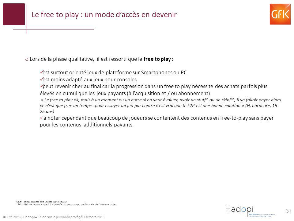 Le free to play : un mode d'accès en devenir