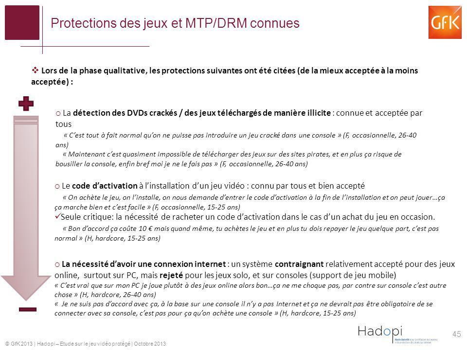 Protections des jeux et MTP/DRM connues