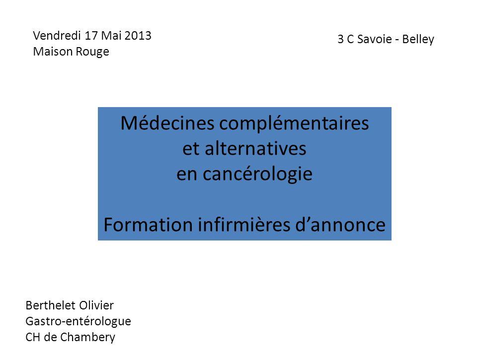 Médecines complémentaires et alternatives en cancérologie