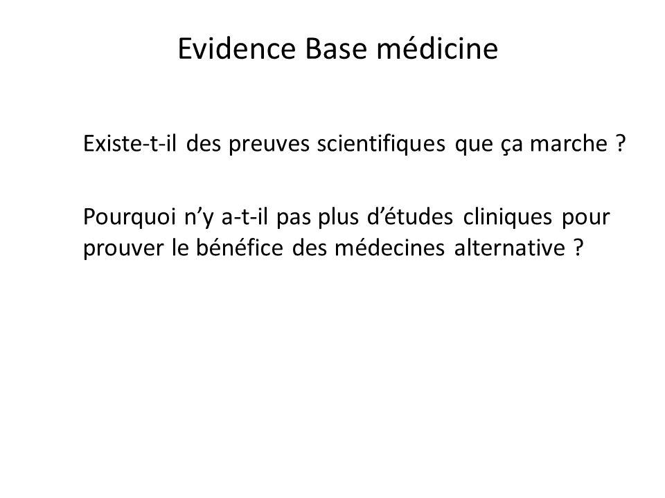 Evidence Base médicine