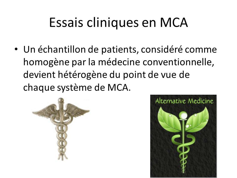 Essais cliniques en MCA
