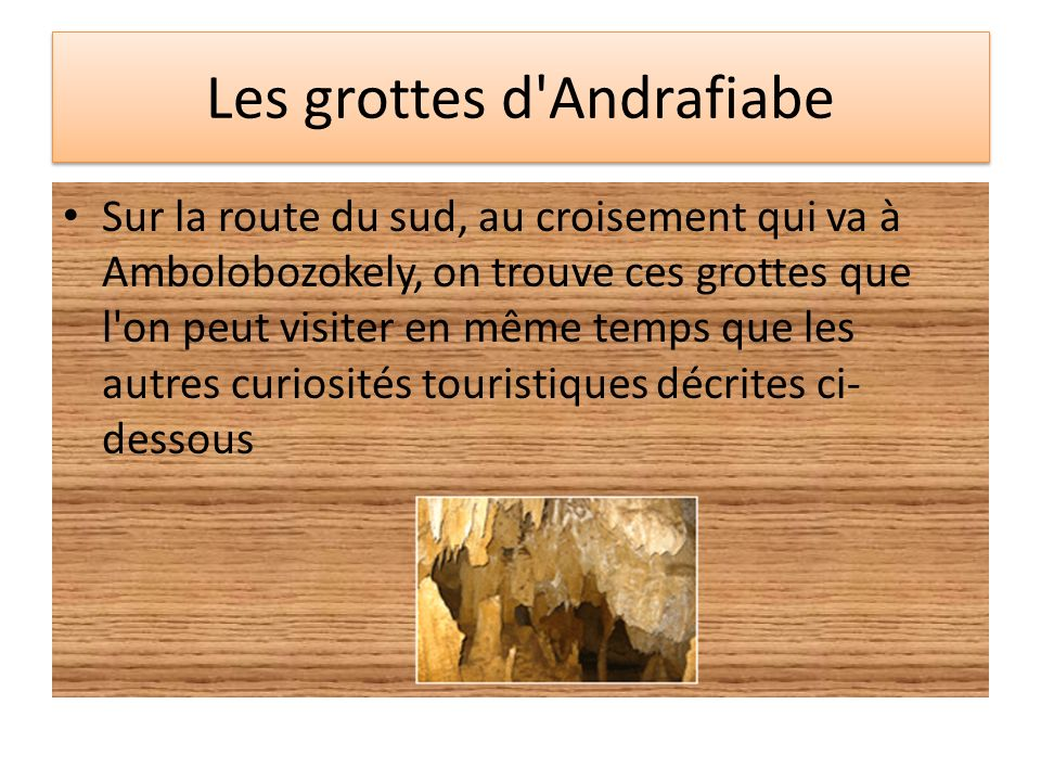 Les grottes d Andrafiabe