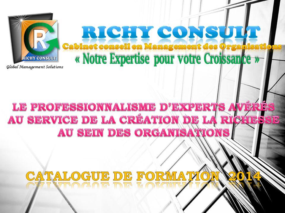 RICHY CONSULT CATALOGUE DE FORMATION 2014