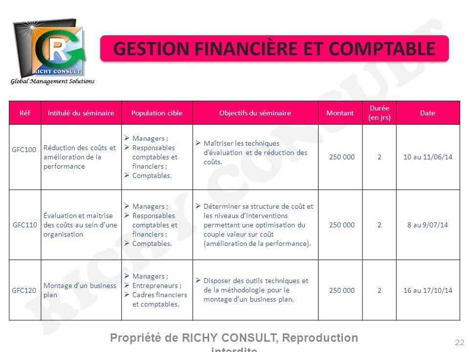 RICHY CONSULT GESTION FINANCIÈRE ET COMPTABLE