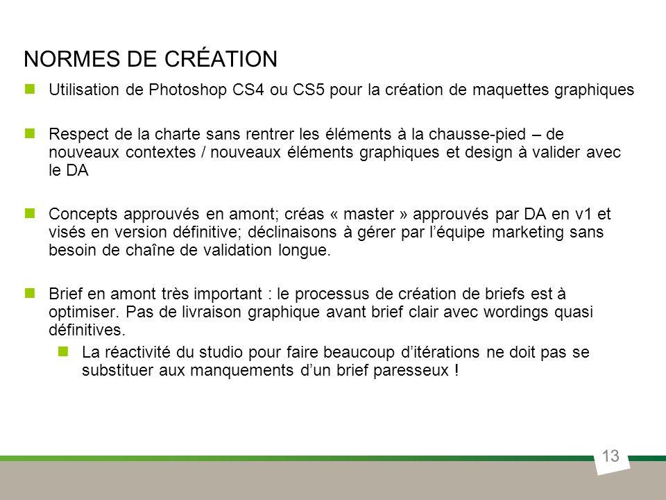 Normes de création Utilisation de Photoshop CS4 ou CS5 pour la création de maquettes graphiques.