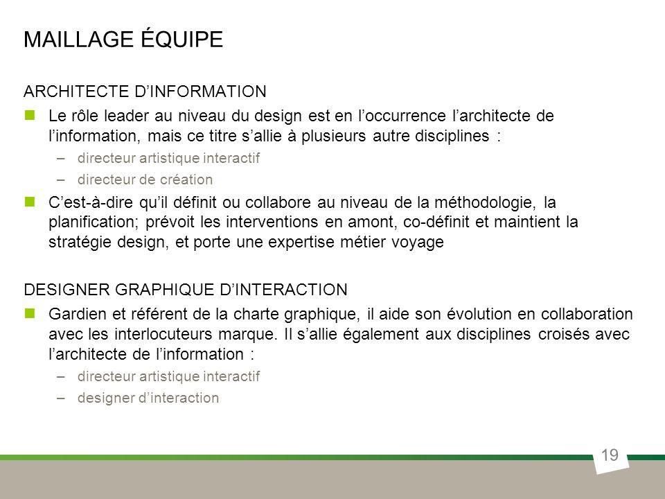 Maillage équipe ARCHITECTE D'INFORMATION