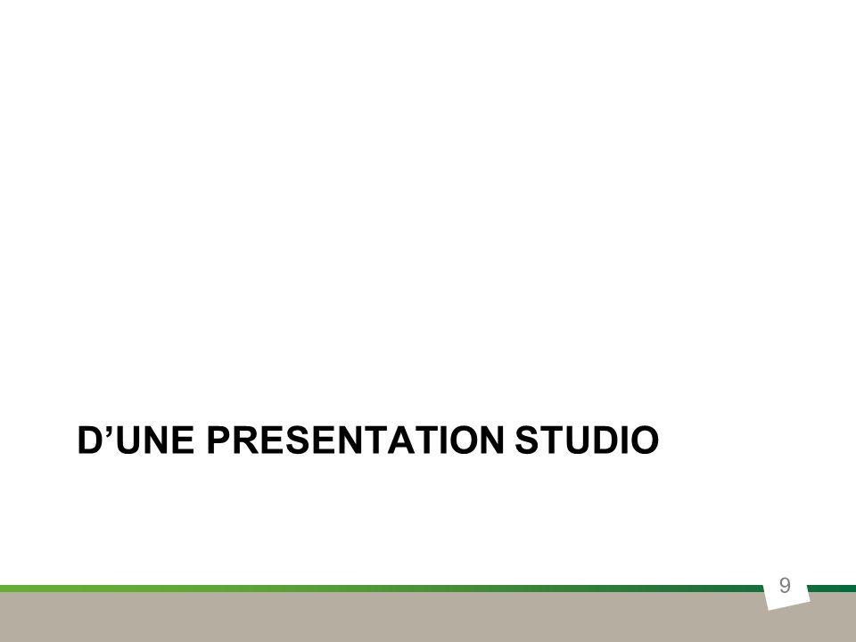 D'une presentation studio
