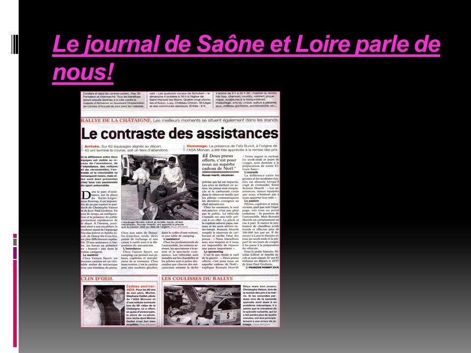 Le journal de Saône et Loire parle de nous!