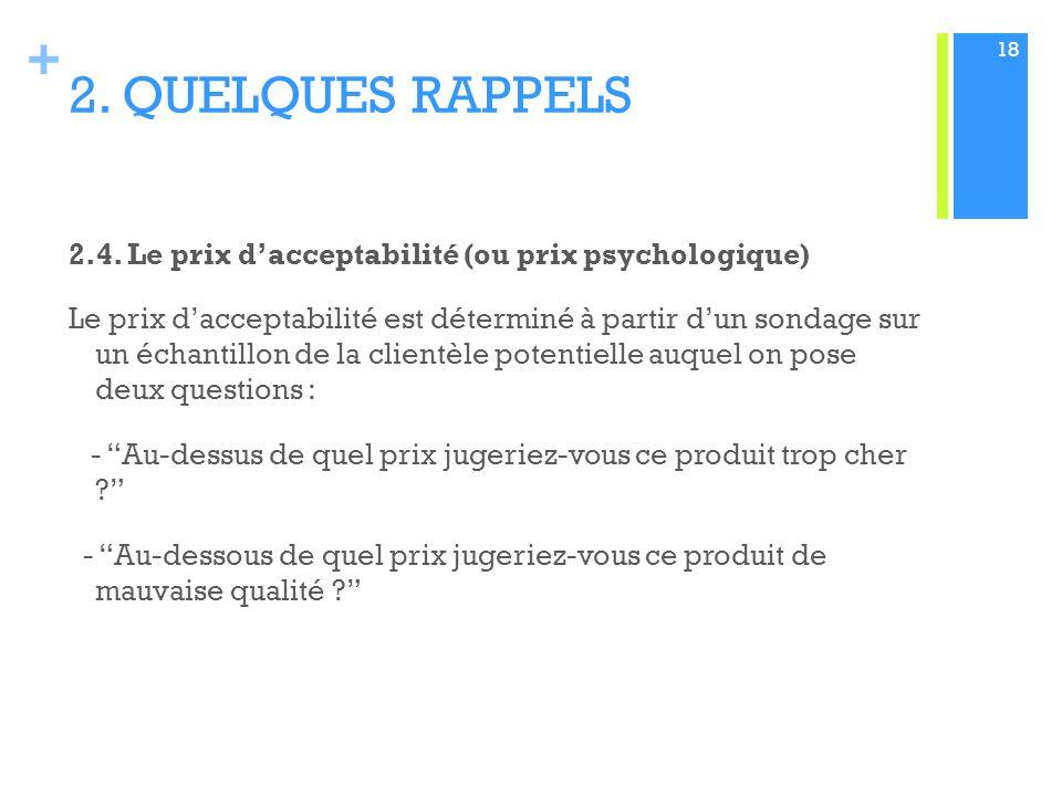 2. QUELQUES RAPPELS