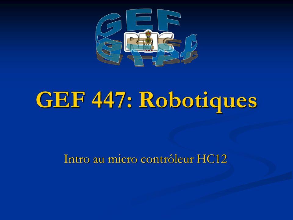 Intro au micro contrôleur HC12